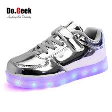 la light up shoes dogeek kids led shoes silver gold light up boys unisex zapatos