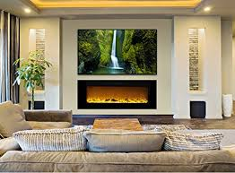 Amazon Fireplace Tv Stand by Amazon Com Touchstone 80004 Sideline In Wall Recessed Electric