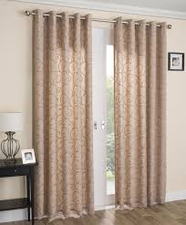 White Ready Made Curtains Uk Venice Swirl Lined Voile Curtains Ready Made Ring Top Pairs Latte