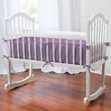 girls purple bedding bedroom white and purple crib rocker bedding set the