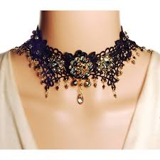 black choker collar necklace images Rosie fox gold black lace onyx and crystal choker 95 liked jpg