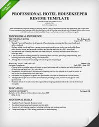 Job Guide Resume Builder by Professional Housekeeper Maid Resume Template Free Download Free