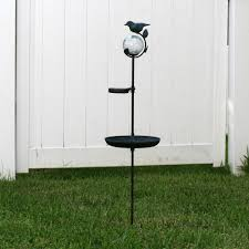 Bird Solar Lights by Smart Solar Aquarius Birdbath Stake With Glass Orb Solar Powered