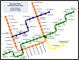 Metro Line Map by World Nycsubway Org Montreal Metro Route Map