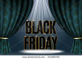 stage black friday sale vector illustration stylized banner stage dark stock vector