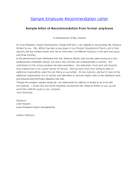 writing a recommendation letter for an employee the letter sample