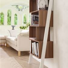 Oak Ladder Bookcase by Amazon Com Cole Contemporary Leaning Tower Bookshelf Display