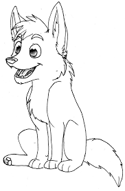 wolf colouring pages for kids
