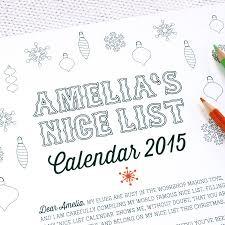 santa u0027s colour in nice list advent calendar by handmade by if