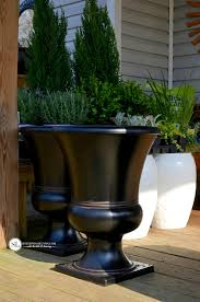 Outdoor Large Vases And Urns Container Plantings Front Porch Urns Bystephanielynn