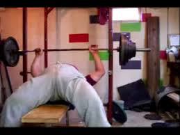 How To Bench Press Alone - dumping a stuck bench press no spotters youtube