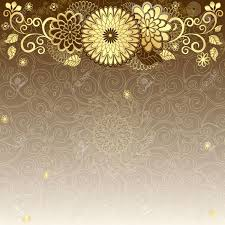 Gold Flowers Vintage Elegance Frame With Gold Flowers Royalty Free Cliparts