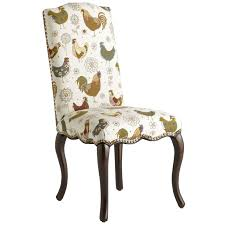 Pier One Armchair 2 Upholstered Chicken Rooster Chairs Claudine Dining Chair