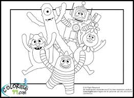 yo gabba gabba dj lance coloring pages