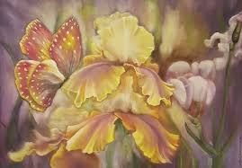 buy summer iris oil painting on livemaster online shop