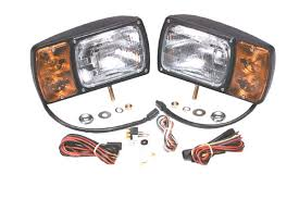 Snow Plow Lights 63451 4 Snowplow Light Kit With Universal Wiring Harness Pair Pack