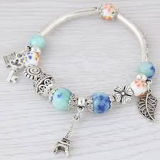 murano beads bracelet images Buy lemoer fashion silver color paris eiffel jpg