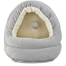 Hooded Dog Bed Harmony Hooded Cave Cat Bed In Grey 17