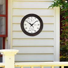 Patio Clock And Thermometer Sets by Amazon Com Equity By La Crosse 29005 Outdoor Thermometer And