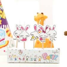rabbit party supplies 5pcs lot birthday party supplies cake topper lovely bunny