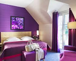 chambre mauve et gris décoration violet chambre violette château de villiers le