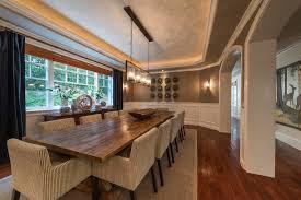 Rectangular Chandeliers Dining Room Rectangular Chandelier Dining Room Transitional With White