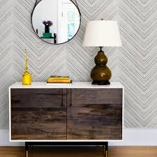 chevron lines wallpaper grey peel and stick