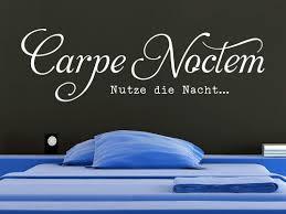 Schlafzimmer Wandtattoo Wandtattoo Carpe Noctem Schriftzug Klebeheld De