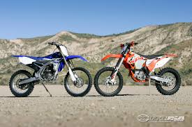motocross street bike 2015 ktm 250 xc f vs yamaha yz250fx motorcycle usa
