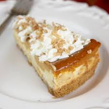 layered pumpkin pie toffee cheesecake our best bites
