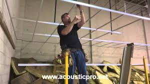 drop ceiling grid n tile acoustical install video acoustic pro