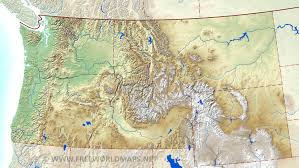 map usa northwest northwestern us physical map