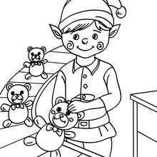 santa u0027s elf working coloring pages hellokids