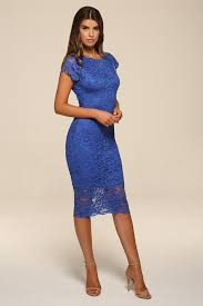 blue lace dress blue backless lace midi dress honor gold