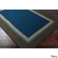 Indoor Outdoor Rugs Overstock by Overstock Hand Hooked Gillian Bordered Indoor Outdoor