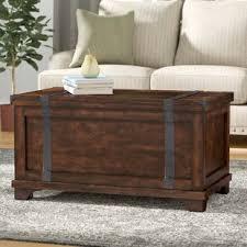 steamer trunk side table decorative trunks you ll love wayfair ca