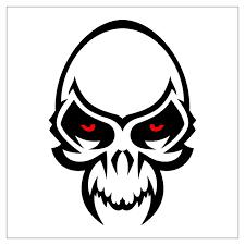 tribal skull tattoo designs clip art library