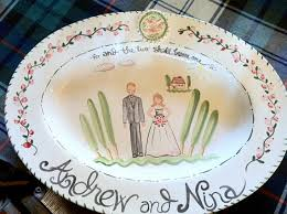 personalized wedding platters custom wedding platter by tricia lowenfield by tricialowenfield