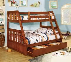 canberra espresso or oak finish mission style twin full bunk bed