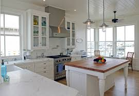 Cambria Kitchen Countertops - glamorous butcher block island in traditional wilmington with