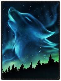 sell soft wolf northern lights blanket 58 x