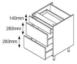3 Drawer Base Cabinet Diy Kitchens Uk U003e Cabinets U003e Cabinet Only U003e Solid Colours U003e Base