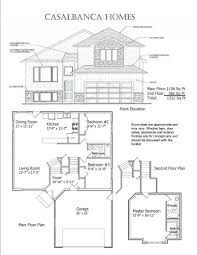 Bi Level House Plans With Attached Garage Casablanca Homes House Plans