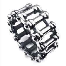 steel chain rings images Retro stainless steel bicycle chain ring jr450001 zuobisi jewelry jpg