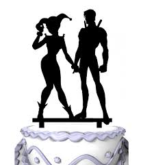 harley cake topper meijiafei groom and harley quinn and nightwing