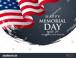 Honor Flag Memorial Day Remember Honor Vector Illustration Stock Vector