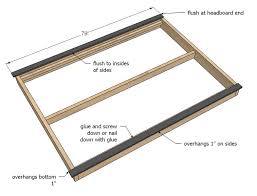 King Platform Bed Frame Plans Free by How To Build Queen Size Platform Bed Plans Pdf King Size Bed