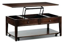 rising coffee table lift top coventry espresso leon s mechanism