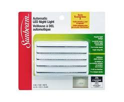 automatic led night light sunbeam 0 3w automatic led night light blistercard l image home