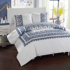 aztec ribbon 3 sarita garden aztec ribbon embroidered duvet cover set